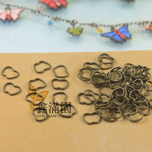 (2000 pieces/lot) antique bronze plated brass metal apple shape loop connector jump ring jewelry findings qy1963