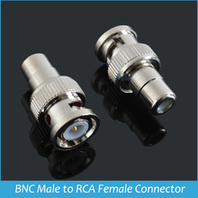 Sindax RCA Female To BNC Male Coax Cable Connector BNC to Rca Connectors Adapter F/M Coupler for Vedio cable Drop shipping 1pcs