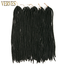 faux locs crochet hair 8 piece VERVES dreadlocks braids havana mambo twist crochet braid hair synthetic dread hair extensions(China)