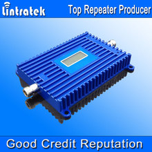 Lintratek New Cell Phone Booster 3G UMTS 850mhz LCD Display CDMA 850mhz Booster 70dBi Gain GSM Repeater 850mhz Wholesale Price @