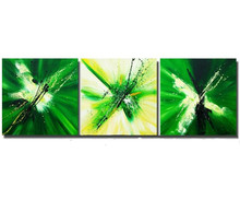 Oil Painting Modern Abstract Canvas Wall Art Pictures Home Decoration Hand Painted Paintings Handmade Green Graffiti Artwork