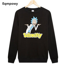 2017 New Arrival Men Sweatshirts Morty And Rick Printed Free Clothing Funny Pullover Hoodies Cool Man Casual Fleeces Chic Tops(China)