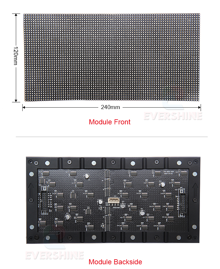 full color indoort p3 RGB led display module SMD2121 80x40 pixel 240x120mm led flexible led module display boards (5)