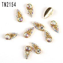 Buy 10Pcs/Lot Nail Art Decorations Metal Gold Glitter Transparent Rhinestones Nails 3D Nail Charms TN2154 for $1.87 in AliExpress store