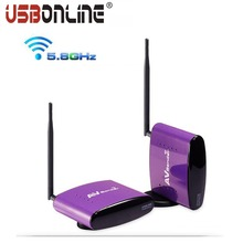 5.8G Digital STB TV sharing audio video wireless av transmitter and receiver 8 channels IR wire extension 300m range