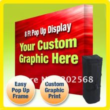 8' FABRIC VELCRO POP UP TRADE SHOW BOOTH DISPLAY + Custom Graphic