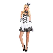 Halloween Costumes Adult White Magic Costumes Women Adult Magician Costumes Cosplay Fancy Dress(China)