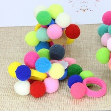Buy isnice Hair bands girls hair accessories Cute 3 Balls Elastics Hair Holders Gum Fashion Kids Candy Color Rubber Bands Headwear for $1.89 in AliExpress store