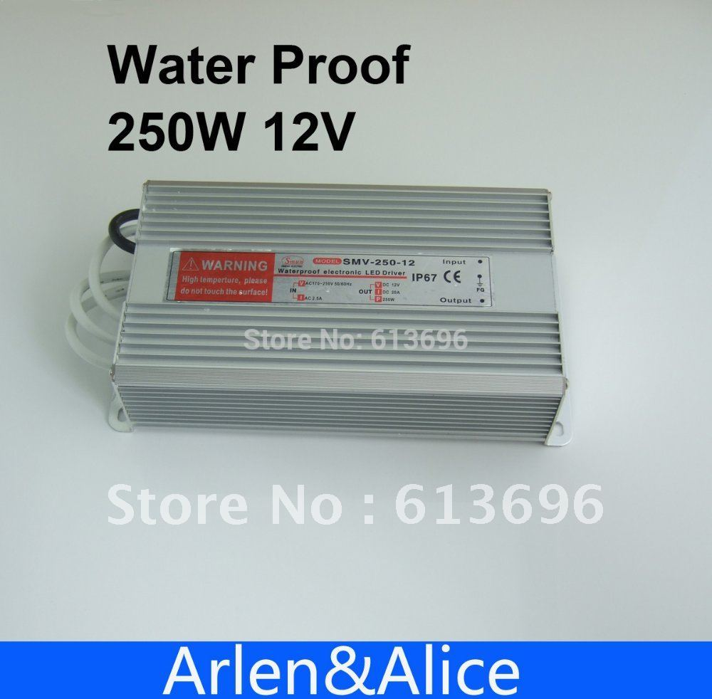 250W 12V 20.8A Waterproof outdoor Single Output Switching power supply for LED<br>