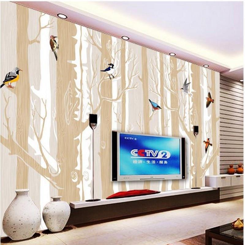 3d stereoscopic wallpaper forest birds TV backdrop wallpaper living room bedroom murals papel de parede wall paper<br><br>Aliexpress