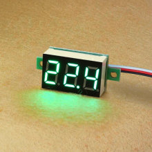 DC Mini Digital Voltmeter DC 0-100V green LED Slim Digital Panel Meter with Ear Car Motorcycle Battery Monitor Voltmeter#0000