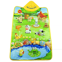 YIQU Music Sound Farm Animal Kids Baby Play Playing Mat Carpet Playmat Gym Toy