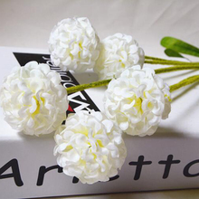 Nice European Country Style 5 Heads Small Hydrangea Artificial Flowers Lavender Flower Ball Home Decor Silk Flower