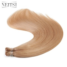 "Neitsi I Tip Stick Tip Keratin Human Hair Extensions Straight 20"" 27# Honey Blonde 1g/s 50g 100g Indian Virgin Remy Hairpieces"