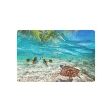 Buy Sea Turtle Swimming Tropical Island Anti-slip Door Mat Home Decor, Palm Tree Seascape Indoor Outdoor Entrance Doormat for $13.80 in AliExpress store