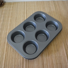 Thickening non-stick six cups even mould egg tarts cake mould muffin cups baking tools chocolate molds,candle molds