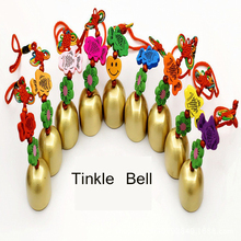 Colorful Fish Copper Wind Chime with Chinese Knot Culture Handmade Crafts Small Door Tinkle Bell Car & Home Hanging Decor Gift