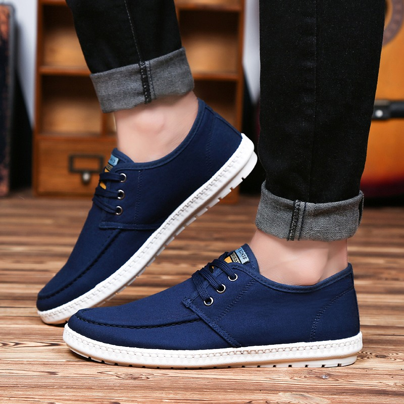 Hot Sales Men Canvas Shoes 2017 Spring Summer Lace-up Low Style Fashion Mixed Colors Breathable Rubber Male Flats Casual Shoes<br><br>Aliexpress