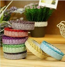 1pcs/lot New shining lace fabric tape  tinselled stick tape stationery Office Adhesive Tape