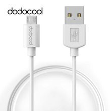 dodocool Soft TPE Micro USB to USB 3A Charge Sync Cable 3.3ft / 1m White for Micro USB-charged phones, tablets and other devices(China)