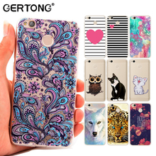 GerTong Thin Soft TPU Phone Case For Xiaomi Redmi Note 4X 4A 4 Pro 3 3S Mi6 Mi5S Mi5 Mi 5S Flower Animal Cat Pattern Cover Shell(China)