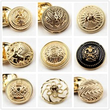 10pcs, golden gold button in gold, the world famous classic brand buttons, clothing accessories DIYmaterials
