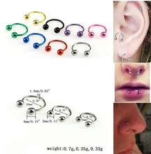 Stainless Steel Nose Ring Studs Navel Lip Eyebrow Ear Septum Cartilage Piercing Body Jewelry Sexy Bars  For Women & Men