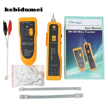 kebidumei JW-360 Cat5 Cat6 RJ45 UTP STP Line Finder Telephone Wire Tracker Tracer Diagnose Tone Tool Kit LAN Network Tester(China)
