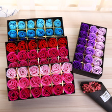 18 Roses Gifts Exquisite Fragrance Simulation Rose Soap Flower Gift Valentine's Day Party Romantic Gift Box Gift Customization(China)