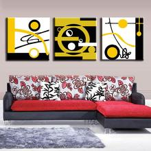 3 Pcs/Set Abstract Canvas Wall Art Blocks of Color and Circle Canvas Prints Decorative Picture Canvas Painting 3 Pieces