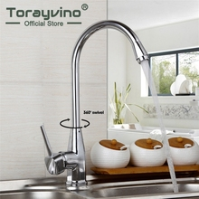 Torayvino Superior In Quality Swivel Kitchen Faucet Chrome Polished Basin Faucet Hot And Cold Water Mixer Swivel Mixer Tap(China)
