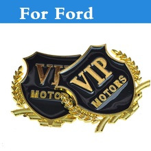 Metal VIP Badge Emblem Car Motor Side Decal Sticker for Ford Fusion GT KA Kuga Maverick Mondeo ST Mustang Taurus X Thunderbird