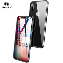 Benks Tempered Glass For iPhone X Curved Tempered Glass Screen Protector Full Cover Anti Dust Protective For iPhoneX Glass Film(China)