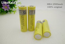 4pcs 100% original he4 2500mah lithium ion 18650 battery 3.7v for lg batteries 20a 35a download electronic cigarette battery