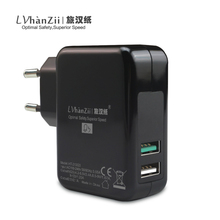 LVhanZii 30W Quick Charge 3.0 EU US Power Adaptor Dual Ports USB Wall Charger For iPhone 7 / Asus Zenfone 3 / LG G5 G3 / Xiaomi(China)