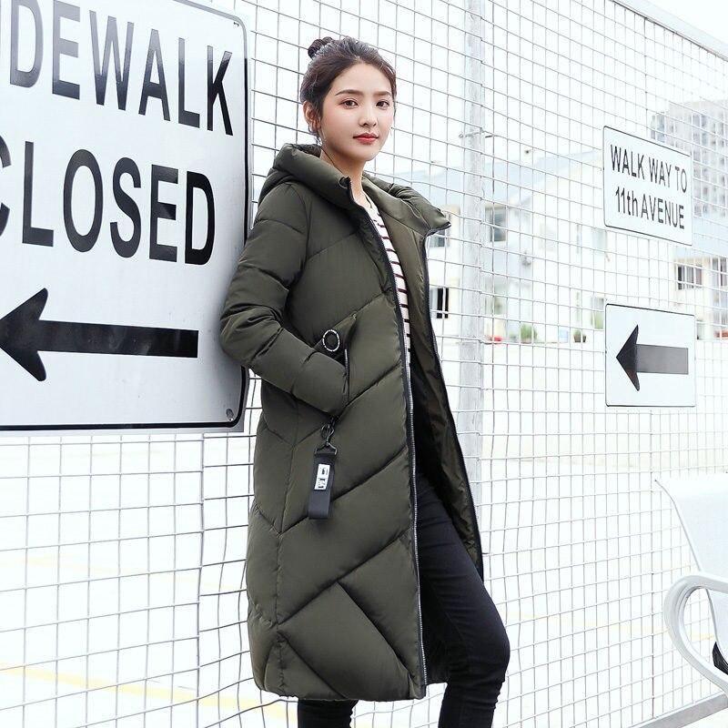 2017 Winter Jacket Women Large Hooded Cotton Coat Thick Warm Parkas Outwear Fashion  Loose Style Student skirt The New 2017Îäåæäà è àêñåññóàðû<br><br>