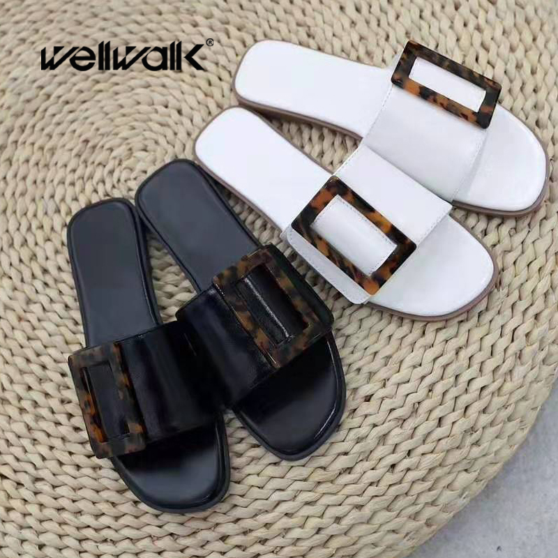 Summer Womens Flip-flop Sandals Flats Buckle Breathable Shoes Slouch Ankle Boots