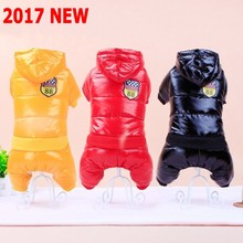 2017 New Waterproof Fabric Dog Coat Winter Large Size Pet Dog Clothes Thickening Dog Down Jacket Clothing For Pet Dogs Costume(China)