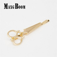MaxgBoon 1PC Women Hairpin Scissors Pattern Hair Clip Hair Barrettes Apparel Accessories Headpiece Free Shipping(China)