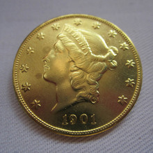 1901 USA Liberty Head (Motto on Reverse)$20 Gold Coins COPY