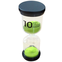 Practical Boutique 1 Green Glass + Sand 10 minute tick time Hourglass With packaging 13*4.3cm
