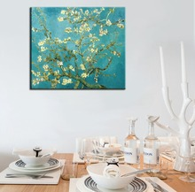 Vincent Van Gogh Blossoming Almond Tree canvas print Painting Wall Art Picture For Living Room custom dropshipping is welcomed