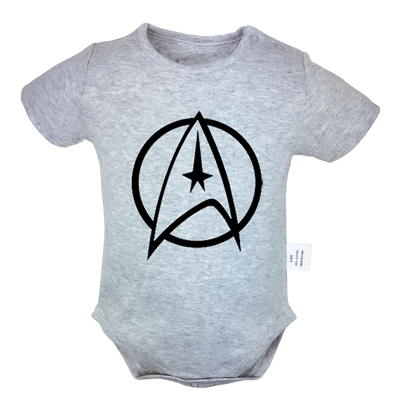 Science Fiction Film Star Trek Crew Logo 6-24M Newborn Baby Girl Boys Clothes Short Sleeve Romper Jumpsuit Outfits 100% Cotton(China)