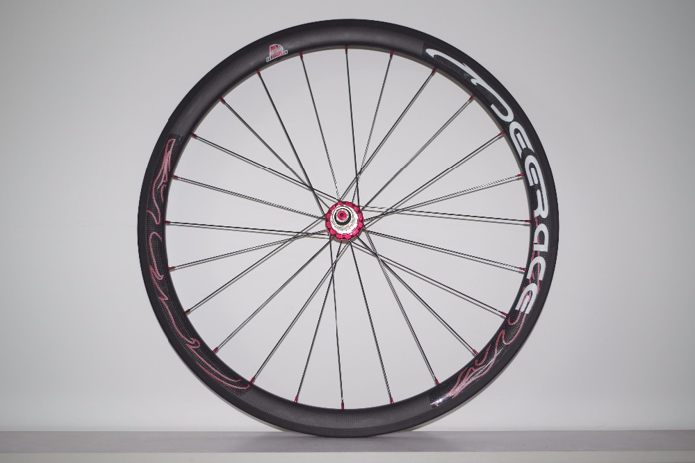 40mm x 25mm carbon wheelset tubeless clincher