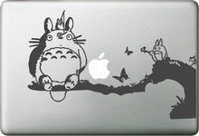 Playing Totoro on Tree Sticker for apple Macbook Decal Air 11 12 13 Pro 13 15 17 Retina Computer Wall Car Skin Vinyl Pegatinas