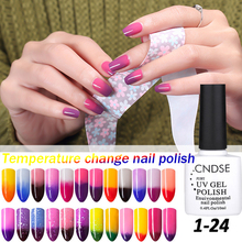 72 Colors 10ML Temperature Change Nail Color UV Gel Nail Polish Soak Off LED Chameleon Nail Polish Lacquer Gel Varnish