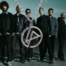 Linkin Park necklace band group logo punk silver color pendant jewelry for men and women wholesale C130