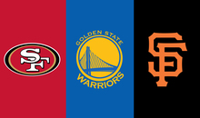 3x5 ft San Francisco 49ers VS Golden State Warriors VS SF Giants banner with metal grommets(China)