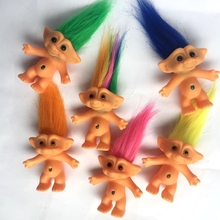 2016 New 10cm Trolls Doll Action Figures Doll Super Cute 6 Styles Hair The Good Luck Trolls Toy Christmas Gifts For Children