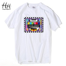 TV Test card Fashion T-shirt Men The Big Bang Theory Short Sleeve Cotton Tee shirts Summer Style Brand New Male T shirts TA0259(China)